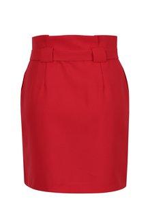 Červená sukně s páskem Miss Selfridge