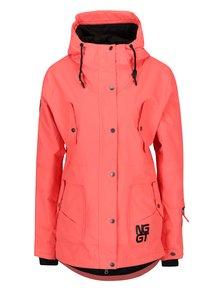 Oranžová dámská nepromokavá zimní bunda NUGGET Anja