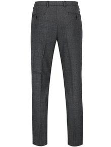 Sivé kockované formálne skinny nohavice Burton Menswear London