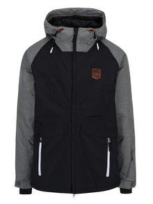 Sivo-čierna pánska nepremokavá zimná bunda NUGGET Scaral