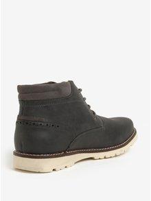 Tmavě šedé kotníkové boty Burton Menswear London