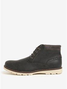 Tmavosivé členkové topánky Burton Menswear London