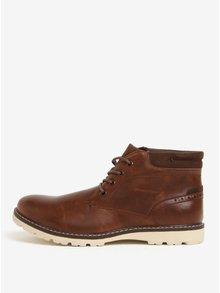 Tmavohnedé členkové topánky Burton Menswear London