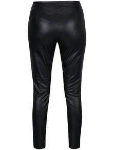 Čierne koženkové nohavice so zipsom na boku ONLY Dallas