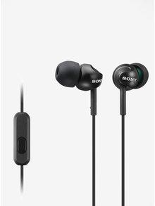 Čierne in-ear slúchadlá s mikrofónom SONY