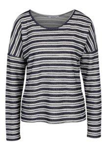 Tmavomodré pruhované tričko s dlhým rukávom Haily´s Enni