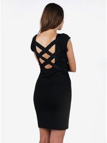 Čierne puzdrové šaty s pásikmi na chrbte  ZOOT