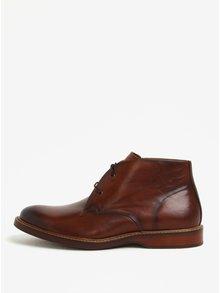 Hnědé pánské kožené kotníkové boty ALDO Lamere