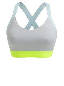 Světle šedá dámská sportovní podprsenka Nike Indy Logo Back