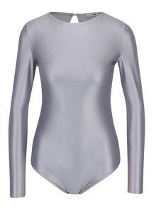 Body ve stříbrné barvě s dlouhým rukávem Alexandra Ghiorghie Rina