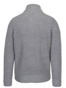 Svetlosivý sveter s gombíkmi a prímesou vlny Burton Menswear London