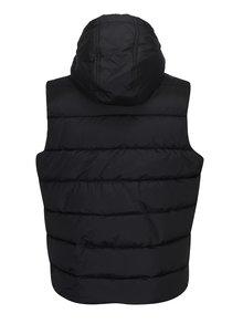 Čierna prešívaná vesta s kapucňou Burton Menswear London