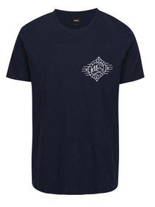 Tmavomodré tričko s potlačou Burton Menswear London