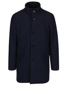 Tmavě modrý kabát s příměsí vlny Selected Homme Mosto