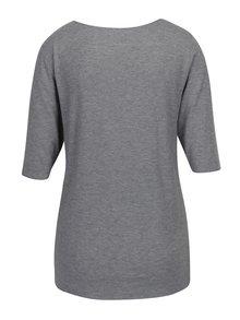 Šedé dámské žíhané tričko Tommy Hilfiger Jada Ballerina