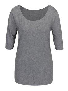 Sivé dámske melírované tričko Tommy Hilfiger Jada Ballerina