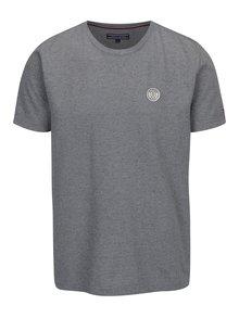 Šedé pánské žíhané tričko s krátkým rukávem Tommy Hilfiger Pando