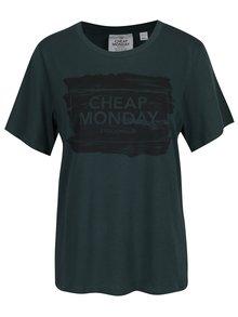 Tmavozelené dámske tričko s potlačou Cheap Monday