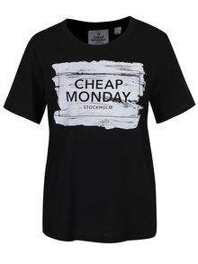 Čierne dámske tričko s potlačou Cheap Monday