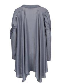 Bluza asimetrica gri cu croi clos - Alexandra Ghiorghie Elaro