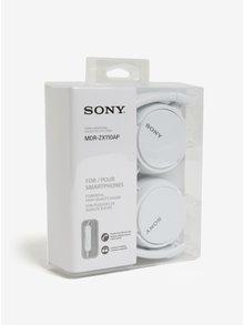 Biele skladacie slúchadlá s mikrofónom SONY