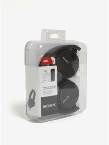 Čierne skladacie slúchadlá s mikrofónom SONY