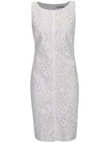 Rochie din piele ecologica alb prafuit cu decupaje florale - Alexandra Ghiorghia Ara