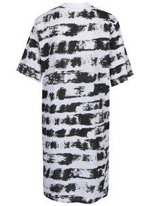 Černo-bílé vzorované šaty s krátkým rukávem Cheap Monday