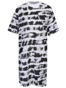 Čierno-biele vzorované šaty s krátkym rukávom Cheap Monday