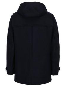 Tmavomodrý pánsky zimný vlnený kabát Tommy Hilfiger Jersey