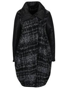 Palton tip balon negru & gri melanj - Alexandra Ghiorghie Mery