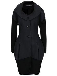 Černo-šedý kabát Alexandra Ghiorghie Doppir