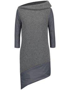 Šedé vlněné svetrové šaty s vycpávkou Alexandra Ghiorghie Moroza