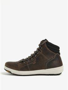 Hnědé pánské kotníkové voděodolné kožené boty Weinbrenner