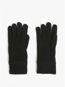 Černé pánské  vlněné rukavice GANT