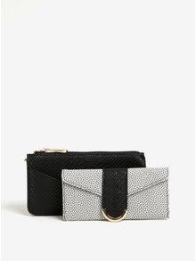 Čierna vzorovaná peňaženka s puzdrom 2v1 Bessie London