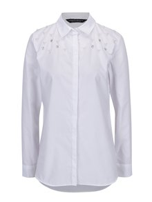 Biela košeľa s kamienkami Dorothy Perkins