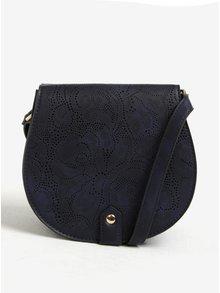 Tmavě modrá crossbody kabelka s jemným perforovaným vzorem Bessie London