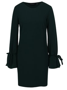 Tmavozelené šaty so zvonovými rukávy Dorothy Perkins