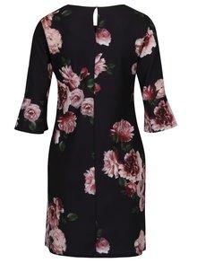 Čierne kvetované šaty so zvonovými rukávy Dorothy Perkins
