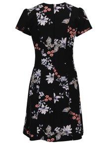 Čierne kvetované šaty s krátkym rukávom Dorothy Perkins