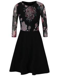 Čierne šaty s kvetovaným topom Dorothy Perkins