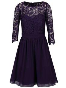 Fialové šaty s krajkovým topem Dorothy Perkins