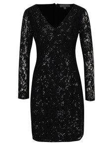 Čierne čipkované šaty s flitrami Dorothy Perkins