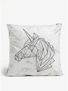 Krémový polštář s geometrickým motivem jednorožce Butter Kings