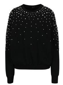 Bluza neagra cu perle aplicate - TALLY WEiJL