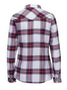 Vínovo-krémová kostkovaná košile s kapsami TALLY WEiJL