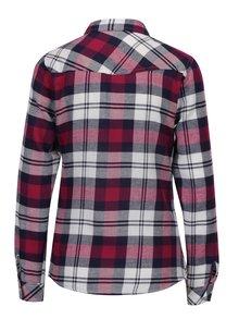 Krémovo-vínová kostkovaná košile s kapsami TALLY WEiJL