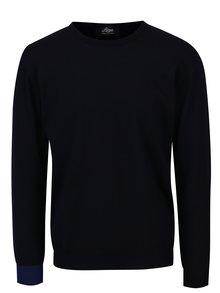 Tmavomodrý sveter z merino vlny Live Sweaters