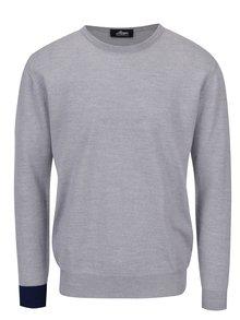 Sivý sveter z merino vlny Live Sweaters